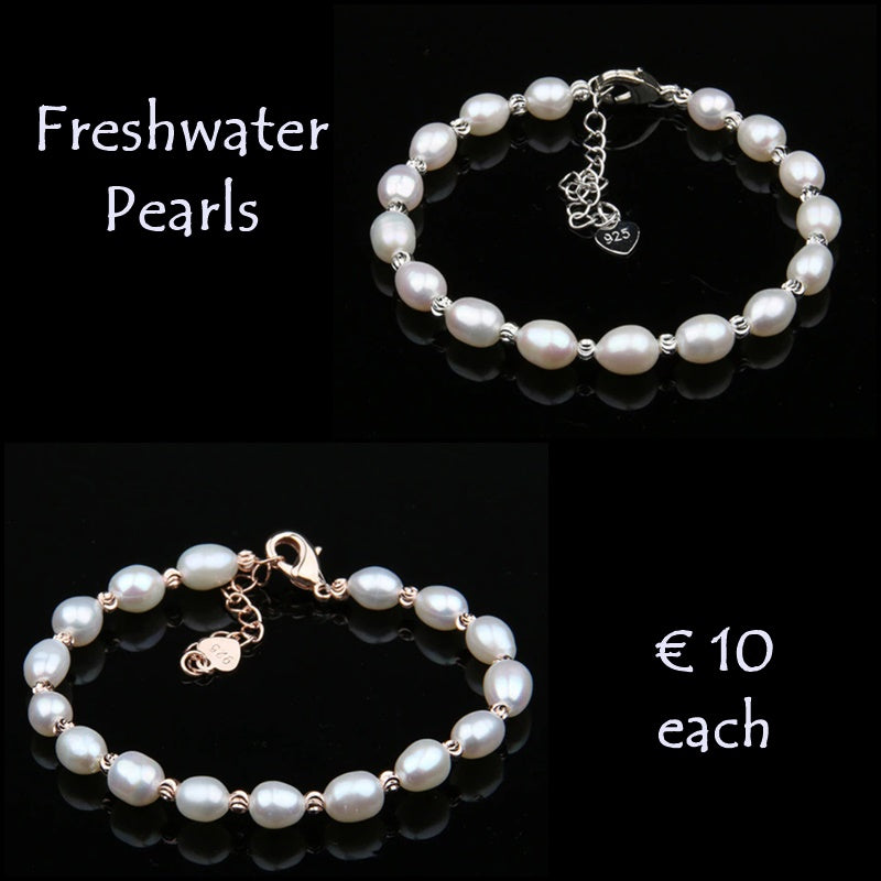 Beautiful Natural Freshwater Pearl Bracelet.