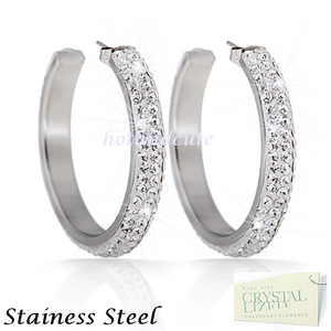 High Quality Stainless Steel 316L Hypoallergenic Earrings with Swarovski Crystals