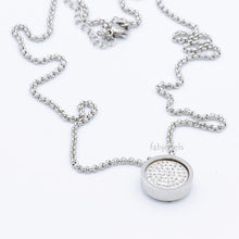 Load image into Gallery viewer, Stainless Steel 316L Necklace with 1 Crystal Interchangeable Magnetic Insert