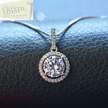 Load image into Gallery viewer, 18ct White Gold Plated Necklace with Swarovski Crystals Pendant