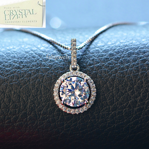 18ct White Gold Plated Necklace with Swarovski Crystals Pendant