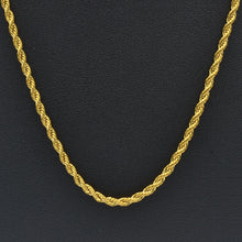 Load image into Gallery viewer, 316L Stainless Steel Rope Chain Long Short Necklace Rose Yellow Gold Silver