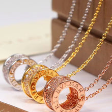 Load image into Gallery viewer, S/Steel Rose Gold / White Gold / Yellow Gold Plated Necklace with Swarovski Crystals