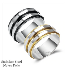 Load image into Gallery viewer, Stainless Steel Solid Ring with Yellow or Black Trim
