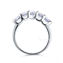Load image into Gallery viewer, Highest Quality Titanium Stainless Steel 316L Half Eternity Ring with Swarovski Crystals