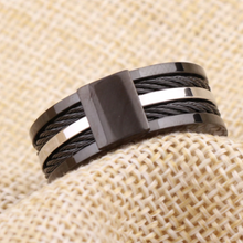 Load image into Gallery viewer, Gorgeous Stainless Steel 316L Black and Silver Men's Ring