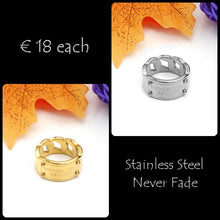 Load image into Gallery viewer, Stainless Steel Chain Ring Never Fade Yellow Gold Plated Silver