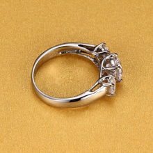 Load image into Gallery viewer, Stainless Steel 316L Trilogy Ring with Swarovski Crystals