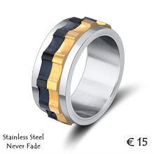 Load image into Gallery viewer, Stainless Steel 316L High Quality 3 Tone Men's Spin Ring