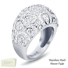 Load image into Gallery viewer, Highest Quality Stainless Steel 316L Ring with Sparkling Swarovski Crystals