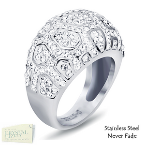 Highest Quality Stainless Steel 316L Ring with Sparkling Swarovski Crystals