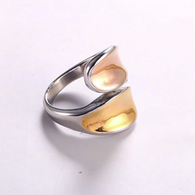 Load image into Gallery viewer, Stainless Steel 3 Tone Stylish Wrap RING