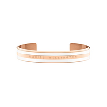 Load image into Gallery viewer, Stainless Steel Classic Cuff Bracelet Satin White Rose Gold Plated Silver