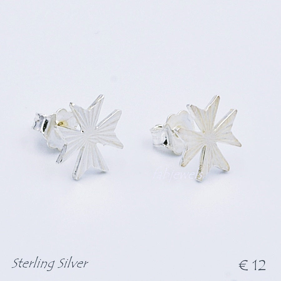 MALTESE CROSS  Sterling Silver 925 Earrings