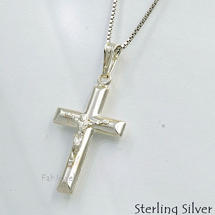 Sterling Silver 925 Crucifix Cross Pendant