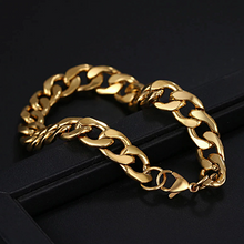 Load image into Gallery viewer, Stainless Steel 316L Gold Plated Curb Chain Bracelet