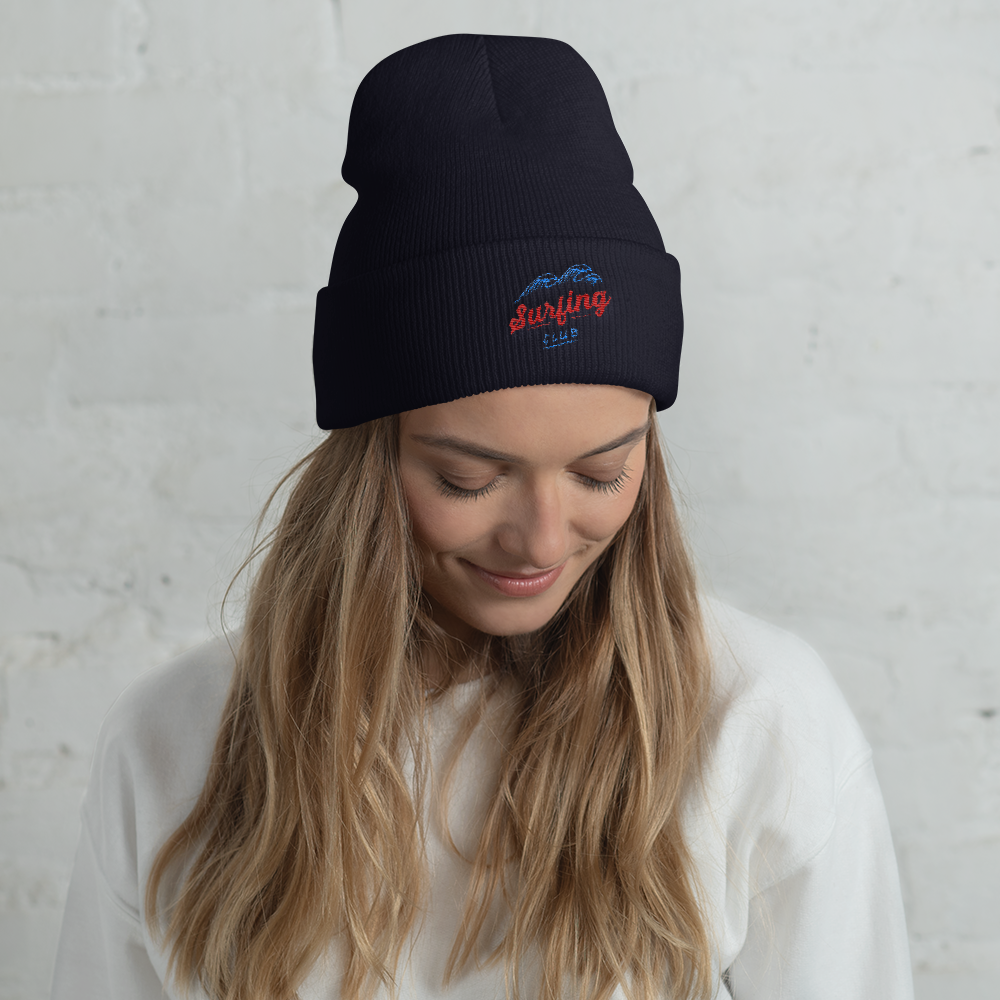Surfing Club Cuffed Beanie