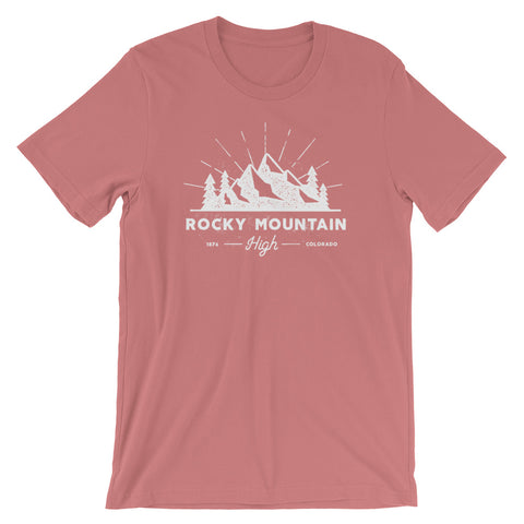Rocky Mountain High Colorado Muave Unisex T-Shirt