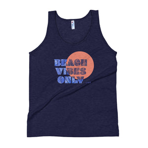 Beach Vibes Only Navy Unisex Tank Top