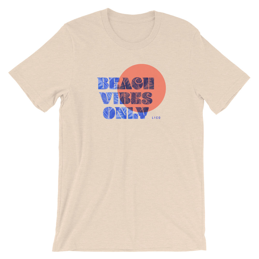 Beach Vibes Only Heather Dust Unisex T-Shirt