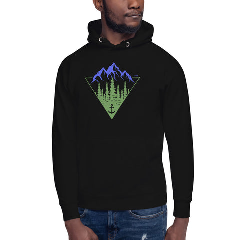 Anchored in the Mountains Unisex Premium Hoodie
