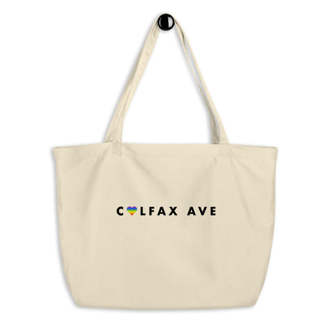 Colfax Avenue Rainbow Pride Large Eco tote bag