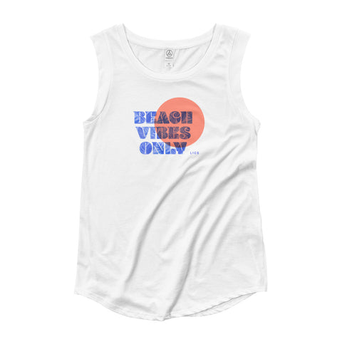 Beach Vibes Only Women's Cap Sleeve Tank