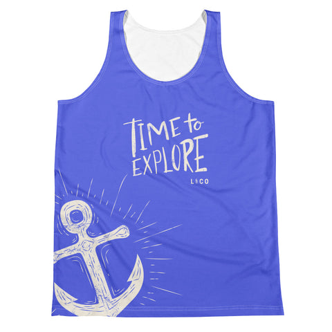 All Over Time To Explore Unisex Tank Top