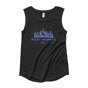 Rocky Mountain High Colorado Black Women's Cap Sleeve Tank