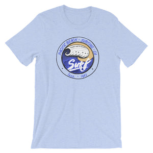 Pacific Beach Surf Heather Blue Unisex T-Shirt