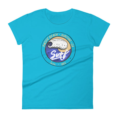 Pacific Beach Surf Blue Women's T-shirt