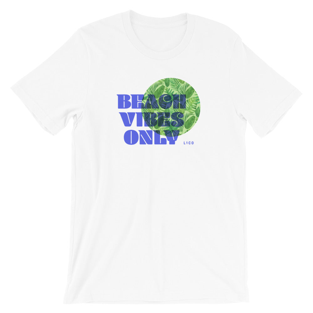Beach Vibes Only White Unisex T-Shirt