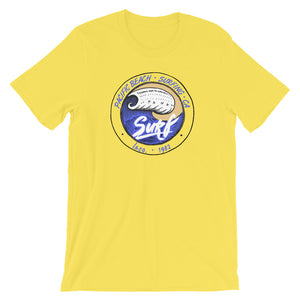Pacific Beach Surf Yellow Unisex T-Shirt