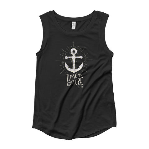 Time To Explore Women's Cap Sleeve Tank