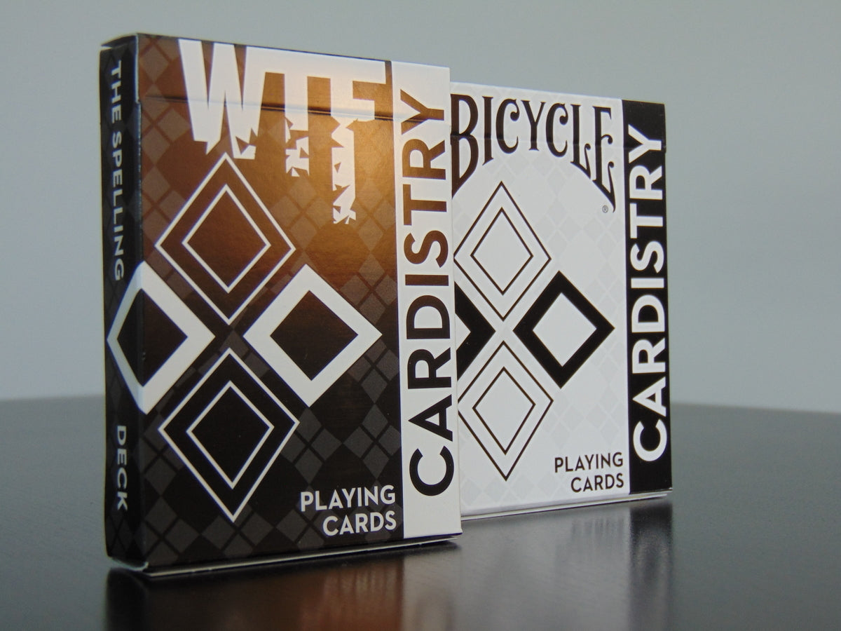 WTF and Bicycle Cardistry playing cards set