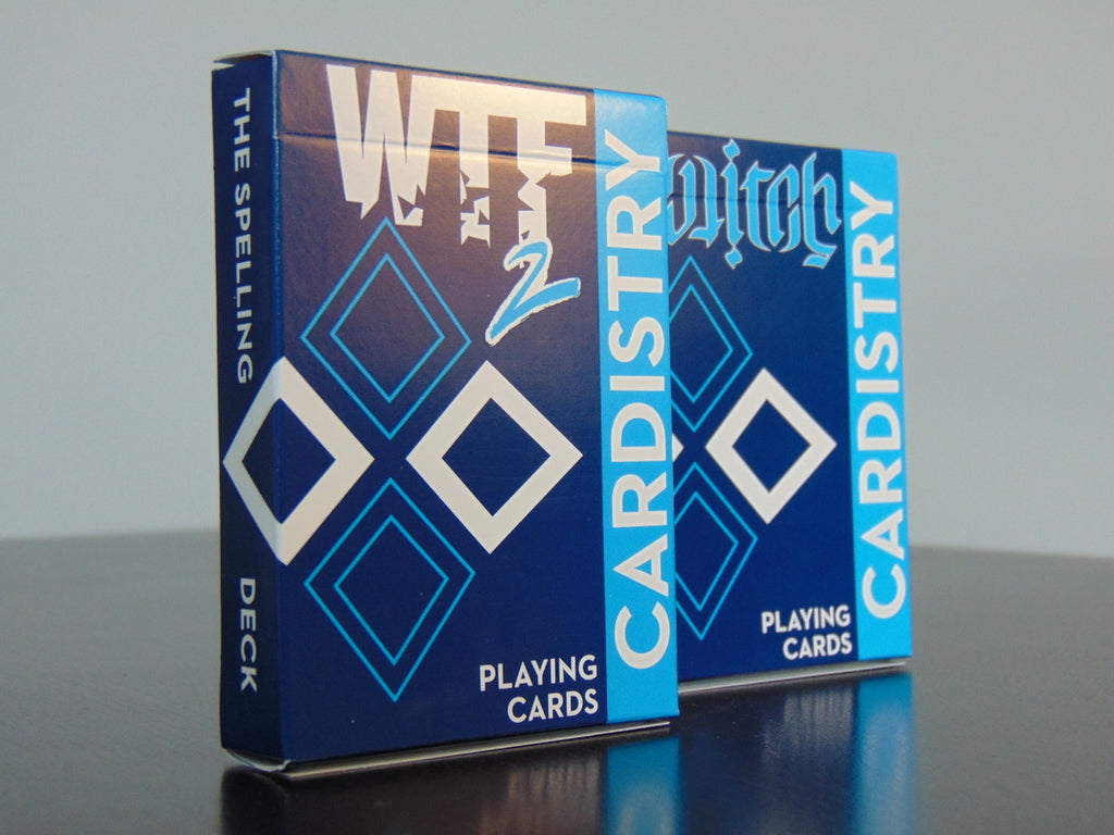 WTF 2 and Bicycle Cardistry playing cards set