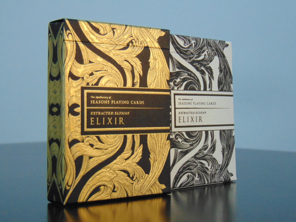 Intaglio elixir playing cards (gold and midnight)