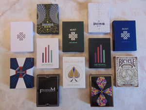 Curated brick of playing cards featuring Mint 2