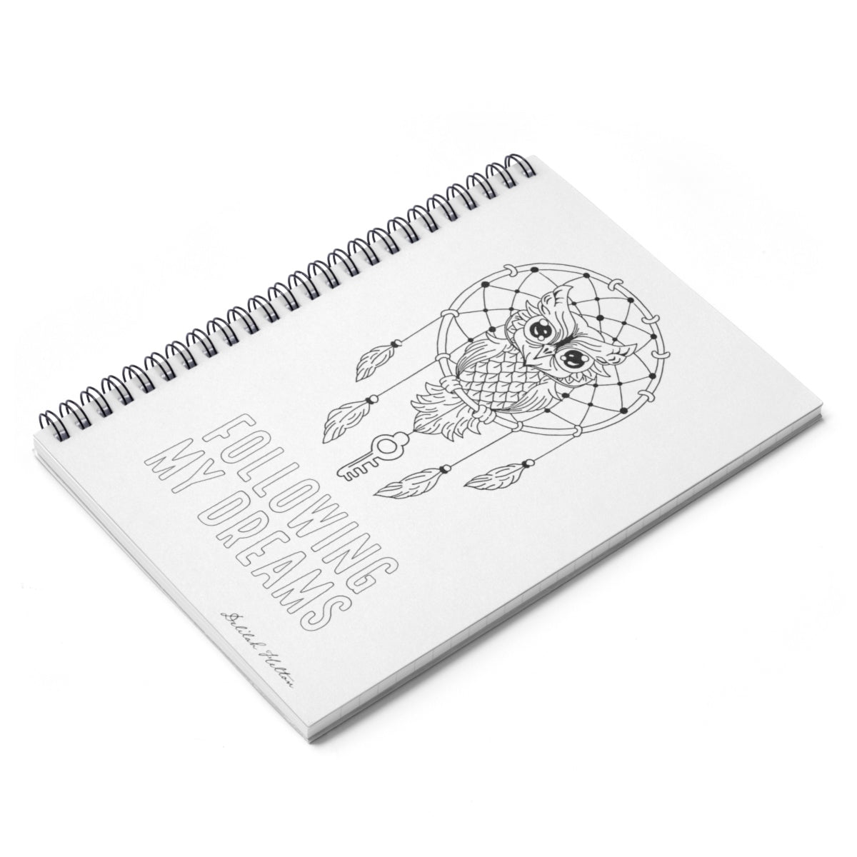 Following My Dreams - Color The Cover Spiral Notebook - Rule Lined