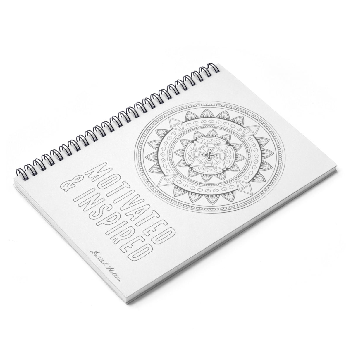 Motivated and Inspired - Color The Cover Spiral Notebook - Ruled Line