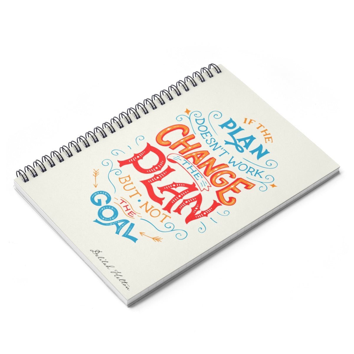 If The Plan Doesn't Work - Spiral Notebook - Ruled Line