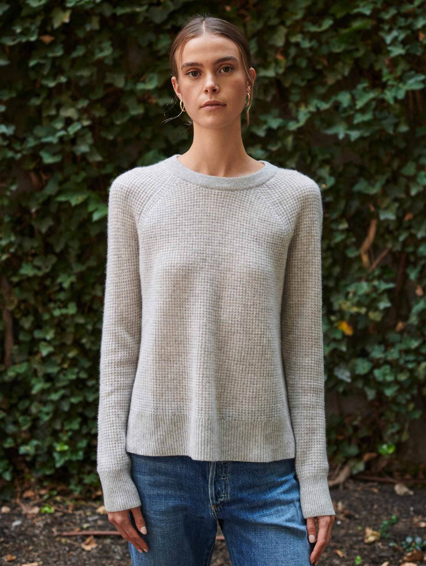 Grey Cashmere Thermal Sweatshirt