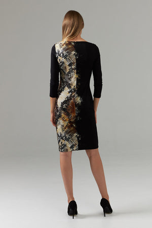 Snakeskin Long Sleeve Dress