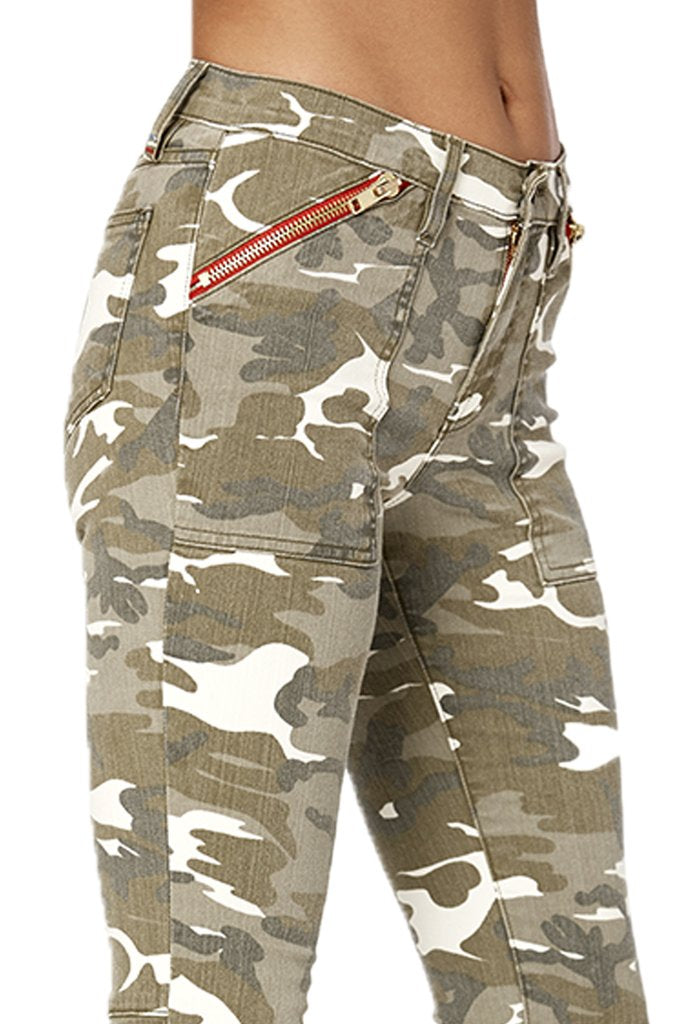 Camo Zipper Pocket Skinny
