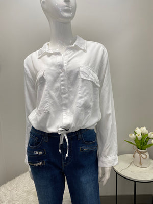 White Tie Up Detail Shirt