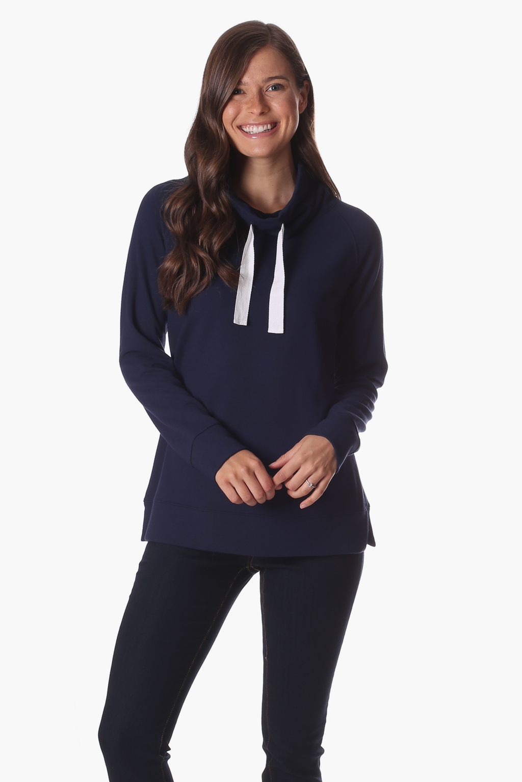 Navy Funnel Neck Sweatshirt
