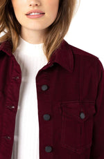 High-Low Shirt Jacket