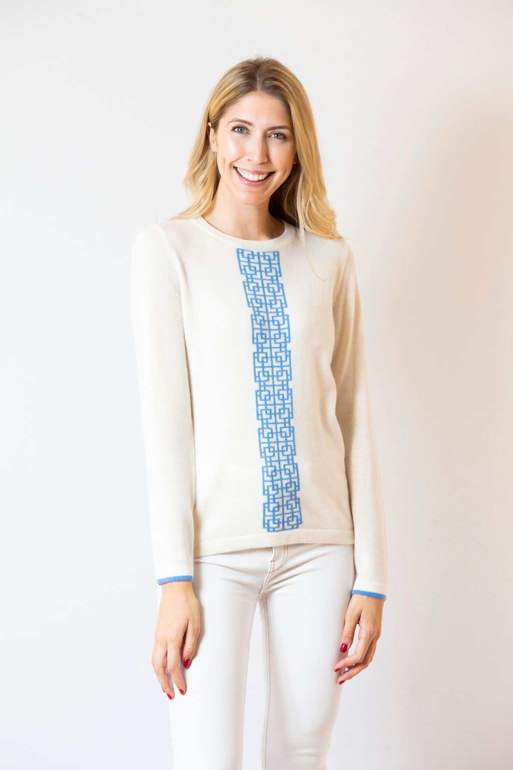 Lattice Stripe Sweater