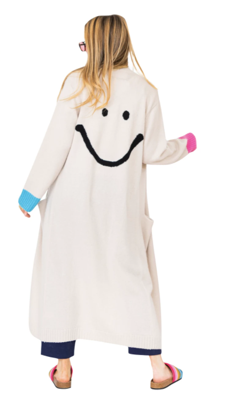Mr. Smiley Long Cashmere Cardigan