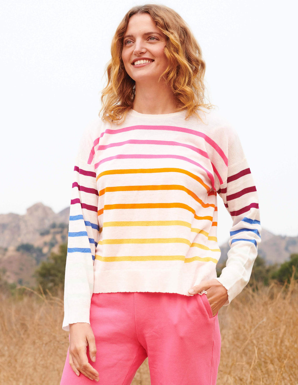 Multicolor Stripe Crewneck